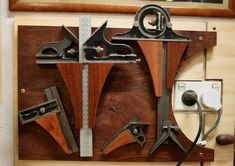 Tool Storage, Storage Ideas, Shop Organization, Old Tools, Garage Workshop, View Source, Carpentry, Metal Working, Door Handles