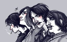 Beatles profiles by ~lorainesammy on deviantART
