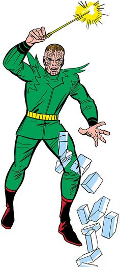 Early Molecule Man (Marvel Comics) with his wand: Fantastic Four, Jack Kirby art