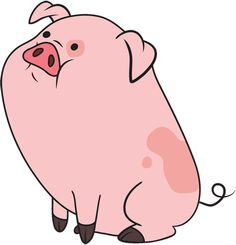 Waddles the pig. He is so cute! BTW: He is from gravity falls. A great childrens tv show from disney channel. I'd say for yr olds & up. Gravity Falls Wiki, Gravity Falls Waddles, Kawaii 365, Kawaii Anime, Desenhos Gravity Falls, Gavity Falls, Clip Art Library, Fall Wallpaper, Cute Pigs