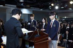 160215 Cha Eun Woo & Moon Bin @ Hanlim Graduation Ceremony