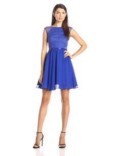 9fbd0afe91791 Aidan by Aidan Mattox Womens Lace and Chiffon Party Dress Neptune 10   Find  out more