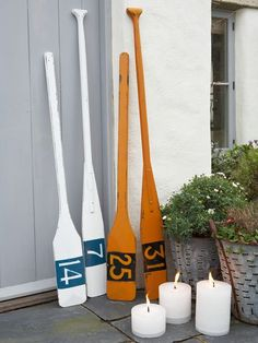 Decorative Wooden Oars.  This would be cute with your house address on it.
