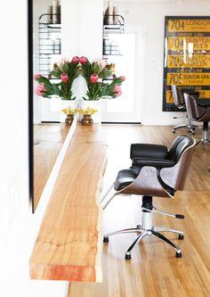 Salon of Distinction: Morrison Hair Home Hair Salons, Hair Salon Interior, Home Salon, Salon Design, Salon Interior Design, Laguna Beach, Hair Salon Stations, Small Salon, Salon Style