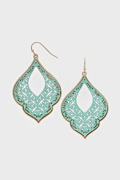 Bobbi Earrings in Mint on Emma Stine Limited