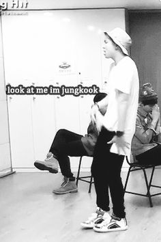 Rap Monster imitating Jungkook