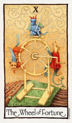 The Wheel of Fortune ~ Old English Tarot