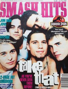 Smash Hits Magazine Take That cover :-D 90s Childhood, My Childhood Memories, Music Magazines, Teen Magazines, 90s Nostalgia, 80s Kids, Teenage Years, My Memory, Growing Up