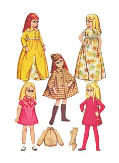 McCalls 7269 1960s Doll Clothing Sewing Pattern by retromonkeys, $22.00