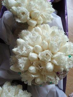 la tulipe, bouquets de mariée, tulipes honeymoon