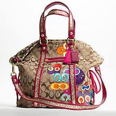 I have this coach handbag...fun for summer.
