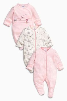 Buy Pink Windmill Sleepsuits Three Pack (0mths-2yrs) online today at Next: Israel