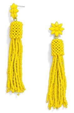 BaubleBar 'Rooney' Tassel Drop Earrings available at #Nordstrom