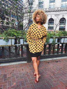 Own By Femme - [FASHION] A YELLOW POLKA DOT JACKET TO SOOTH THE SOUL FEATURING @MODCLOTH!