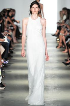 Wes Gordon Spring 2014 Ready-to-Wear Collection Slideshow on Style.com (longdress,white)