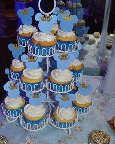 """""""Prince Mickey cupcakes #cupcakes #princemickey #prince #crown #mickey #hialeah #mayracakess"""""""