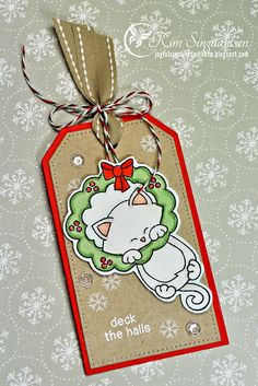 Deck the Halls Tag from Joyful Creations with Kim. Stamps by Newton's Nook Designs.