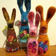 #ostern #rabbit #wielkanoc #wetfelting #filcowanie #filcowa #wool #felt #filzen #filc #felting
