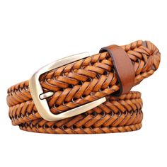 2015 New Belt Man Fashion Mens belts luxury genuine leather Brown braided Real Cow skin straps men Jeans Wide girdle Male 120 cm