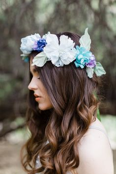 Silk Spring Flower Crowns from Mignonne Handmade