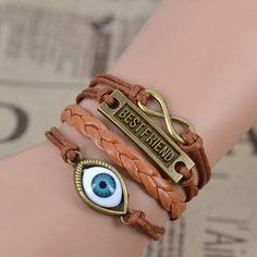 Multilayer Braided Leather Best Friend Bracelet
