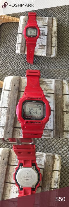 G Shock Watch Red G Shock watch. No trades. 🖤Love the item but not the price? Make an offer. Happy Shopping. 🛍 Casio Accessories Watches