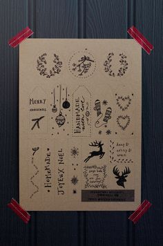 Free printable! Illustrated holiday gift tags | Decorator's Notebook blog