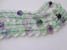 6mm Genuine Semi Precious Fluorite Round Gemstone Beads Full Strand 15"