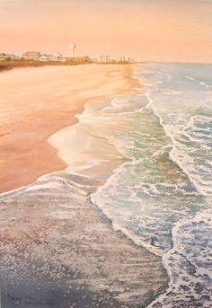Mary Ellen Golden WATERCOLOR | Beach ocean wall art