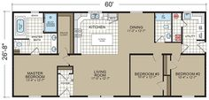 Floor Plans: Dutch 2864-27 - Manufactured and Modular Homes