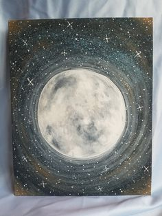Excited to share the latest addition to my #etsy shop: STUNNING Serene Moon Acrylic Canvas Painting Perfect for Child's Space-Themed Bedroom, Nursery, Gifts for Astronomist, Astronomy Gifts https://etsy.me/2EILl4A