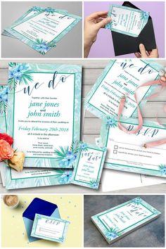 Printed Mint Marble Wedding Invitation Set   #weddinginvitations #weddingsuite #bohowedding #mintwedding #prandski