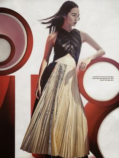 """Modern Wind"" Hwang Se En in Proenza Schouler by Ohg Sang Sun for Vogue Korea March 2014"