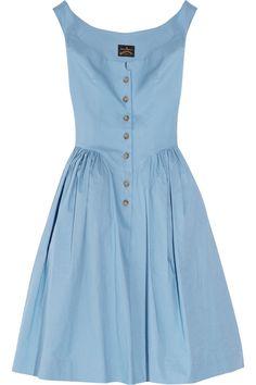 Vivienne Westwood Anglomania | Pannier cotton dress | NET-A-PORTER.COM