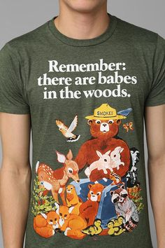 Hey!, I have this tshirt!!  Smokey the Bear tee. Prevent forest fires! #urbanoutfitters