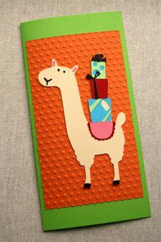 Llama birthday card