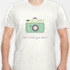 Don't Think, Just Shoot! T-shirt by Basilique | Society6