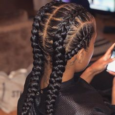 85 Box Braids Hairstyles for Black Women - Hairstyles Trends Braided Hairstyles For Black Women Cornrows, Two Braid Hairstyles, African Braids Hairstyles, Braids For Black Hair, Black Hairstyles, Fine Hairstyles, School Hairstyles, Summer Hairstyles, Hairstyles 2016