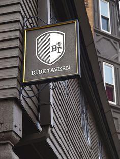 Modern take on traditional pub sign