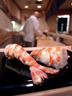Ebi Nigiri, Shrimp Sushi at Sukiyabashi JIRO (Ginza, Tokyo)