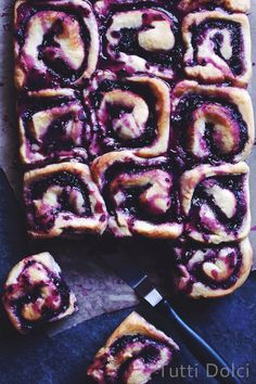 Blackberry-Almond Rolls - sweet rolls with all-natural blackberry glaze!