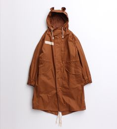 Weather oil coat Mods coat with ear