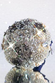 Wedding brooch bouquet keepsake - Spots on The Moon