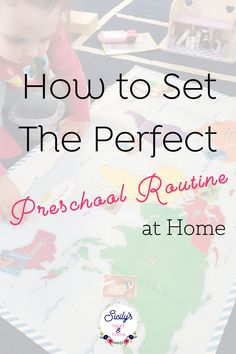 Learn how to set an easy preschool routine at home. Get a homeschool preschool daily schedule that allows you to get everything done you have to do. #homeschoolpreschool #preschoolathome #homepreschool