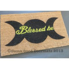 Wiccan Blessed be-  doormat- clean house on Etsy, $45.00