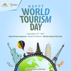 HAPPY WORLD TOURISM DAY September 27th, 2017 Salam Pesona Indonesia - Wonderful Indonesia - Bali the island of the Gods . www villakayuraja.com . #wonderfulindonesia #villakayuraja #seminyakvilla #seminyakbalivillas #earlybird #lastminute #boxing #deal #honeymooninbali #balivilla #bali #cashbackpromotion #balipromotion #balihoteliers #holidayinbali #luxuryvilla #privatepoolvilla #travelling #september #balivilla #cashback #discount