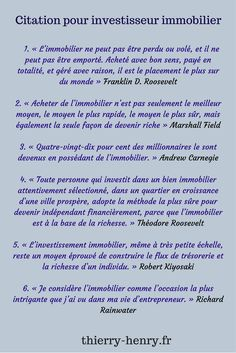 www.thierry-henry.fr #immobilier #realestate #investissement #argent #rentier #revenupassif