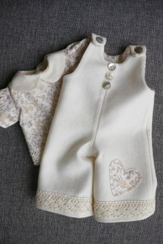 Waldorf Girl Doll Clothes  Overalls & Blouse  fit by brusenjka, $40.00