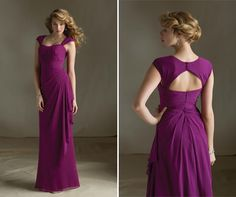 Love the color and keyhole back of this Mori Lee Bridal #BridesmaidDress