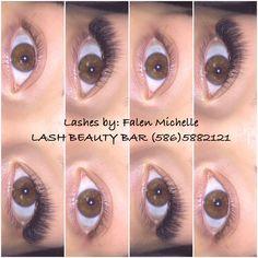 LASH beauty bar (586)588-2121 Semi permanent lash extensions!  Www.facebook.com/lashesbyfalen Thicker Eyebrows, Semi Permanent Lashes, Beauty Bar, Lash Extensions, Facebook, False Eyelashes, Bold Eyebrows
